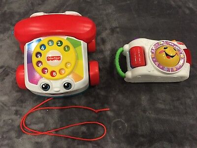 Fisher Price Laugh Learn Camera & Pull Along Telephone Bundle • 5£