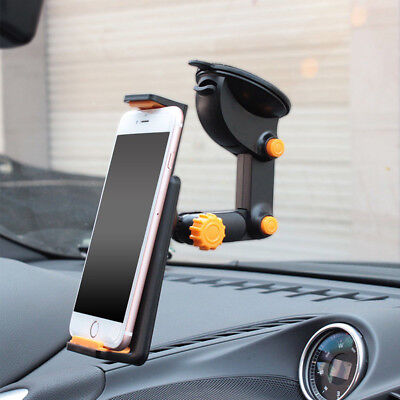 360° Car Windshield Mount Holder For 7-11  IPad Mini/2/3/4/Air IPhone Tablet GPS • 7.89£