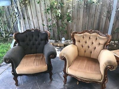 AU340 • Buy Pair Of Louis Mahongany Arm Chairs