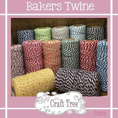 £1.95 • Buy Bakers Twine Wedding Party Crafts Cord String Ribbon 100% Cotton 2mm