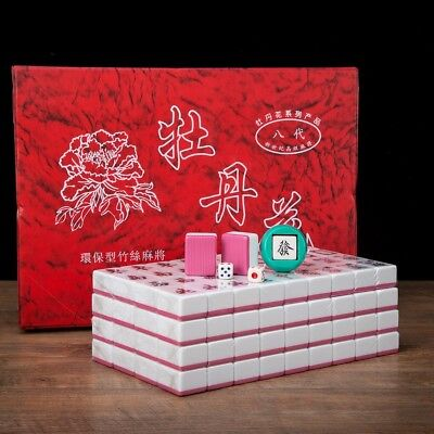 $51.36 • Buy Traditional Chinese Mahjong Game Set 144 + 2 Spares Pink