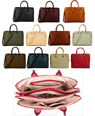 Ladies Laptop Bag 13 Inch 15.6  Briefcase Large Handbag Macbook Bag Womens Work • 24.94£