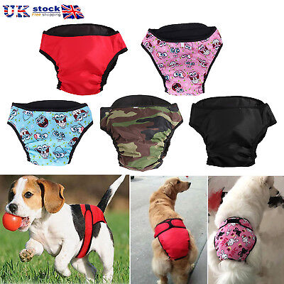 Female Pet Dogs Physiological Sanitary Menstruation Pant Travel Diaper Nappy UK • 4.25£