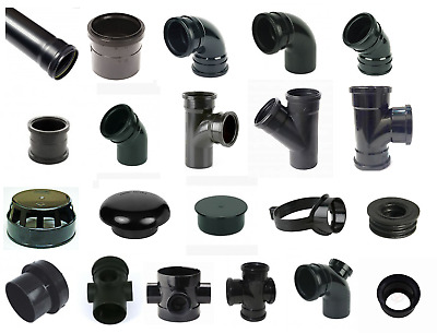 Black Soil Pipe And Ring Seal Fittings UPVC 110mm (4 ) External Or Internal Use • 3.69£