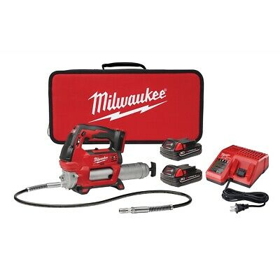 $328.99 • Buy Milwaukee 2646-22CT M18 2 Speed Grease Gun Kit With 2 Batteries And Charger