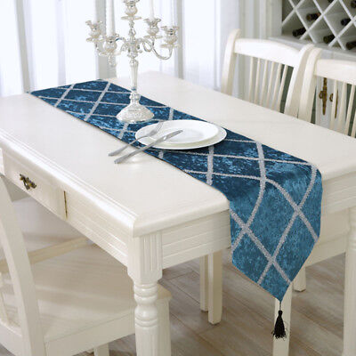 AU22.30 • Buy Chic Table Runner Simple Home Dining Room Mat Tassel Tablecloth Cover Decoration
