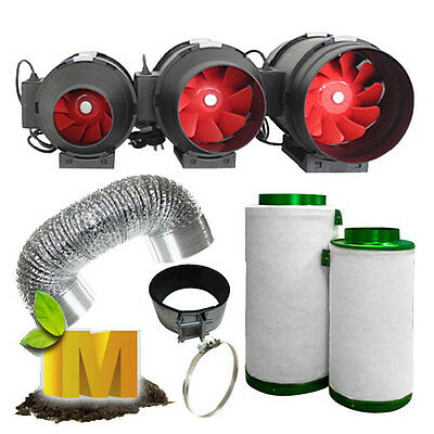 AU169.95 • Buy 4  6  8  Hydroponics Ventilation Kit With Two Speed Grofan Ducting And Filter