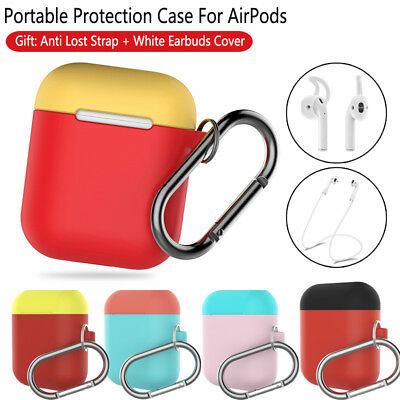 $ CDN5.05 • Buy For Apple AirPods Silicone Case Protector Earphones Cover Hook Strap Accessories