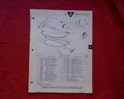 AU18 • Buy 1964 Evinrude 40 Hp Outboard Motor SPARE PARTS MANUAL Book Catalogue List