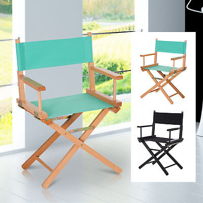£48.99 • Buy Folding Directors Chair With Wood Frame Ventilated Oxford Fabric Seat Beech