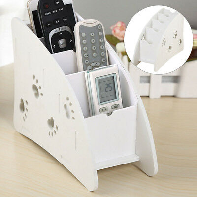 Wooden Air Conditioner TV Remote Control Holder Case Storage Wall Mount Box UK • 5.79£