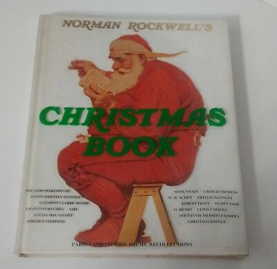 $ CDN12.12 • Buy Norman Rockwell's Christmas Book Carols Stories Poem Hardcover Dust Jacket 1977