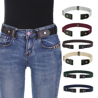 $3.49 • Buy Women's Buckle-Free Elastic Belts Invisible Belt For Jeans No Bulge Hassle Band