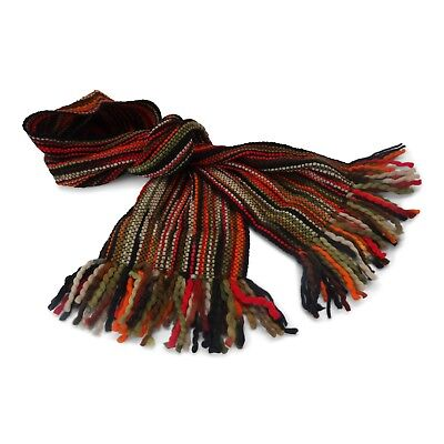 $41.62 • Buy Extra Long Winter Striped Scarf - Luxurious Soft Wool - Hand Woven In Ecuador