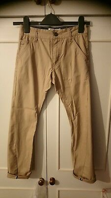 Boys Jasper Conran Twisted Beige  Chinos With  Age 10 • 8.50£