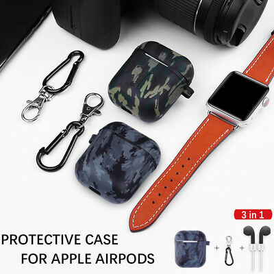 $ CDN5.58 • Buy For Apple AirPods Silicone Cover Skin Case Hook Accessories Camouflage Protector