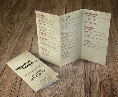 Takeaway Menu Design And Print • 60£