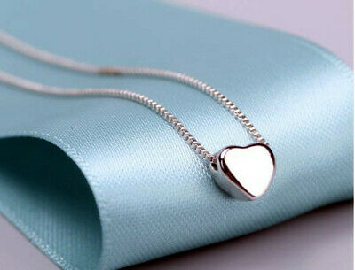 £2.99 • Buy Cute Heart Charm Pendant 925 Sterling Silver Chain Necklace Women Jewellery Gift