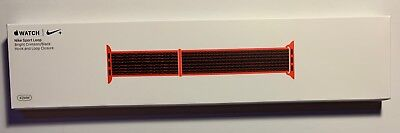 $ CDN202.75 • Buy New Apple Watch Nike+ Bright Crimson Black Sport Loop Series 2 3 42mm 4 5 44 Red