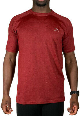 £9.99 • Buy More Mile Train To Run Mens Running Top Red Short Sleeve Sports Training T-Shirt