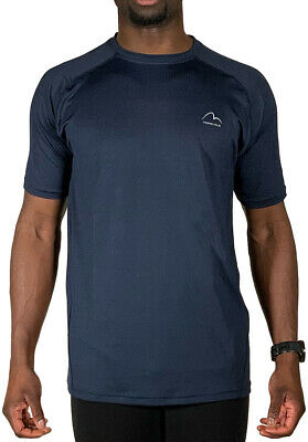 Black More Mile Active Mens Short Sleeve Running Top