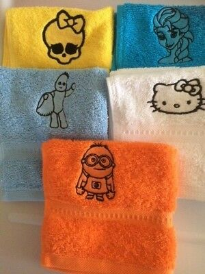 Personalised Embroidered Face Flannel/cloth, Children's Designs £4.45   Inc P&P  • 4.45£