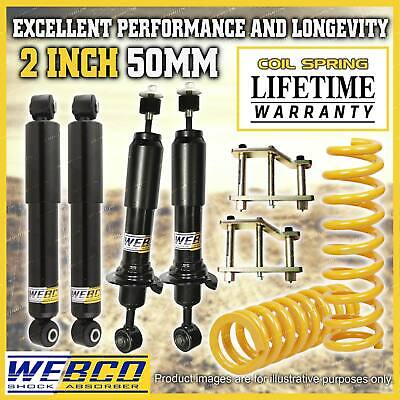 AU630 • Buy 2 Inch 50mm Easy Lift Kit Shocks King Coil Springs For Nissan Navara D40 STX550