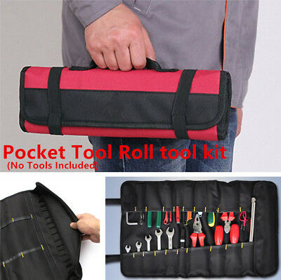 $ CDN13.25 • Buy Durable Red Tool Bag Roll Plier Screwdriver Spanner Case Pouch   Reels Car Parts