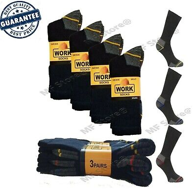 1 - 15 Pairs Mens Ultimate Work Boot Socks Size 6-11 Cushion Sole Reinforced Toe • 6.45£