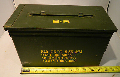 $9.37 • Buy Ammo Box (can), US MIL. Issued M2A1 50 Caliber Surplus W  Lid,seal, Metal   M016