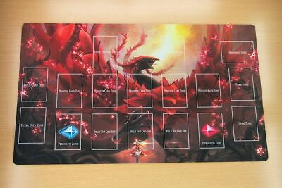 AU34.20 • Buy C1514+ Free Mat Bag Akiza Izinski & Black Rose Dragon Yugioh Playmat YGO TCG Mat