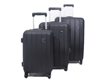 Set Of 3 Piece Travel Luggage Wheel Trolleys Suitcase Bag Hard Shell Spinner  • 49.95£