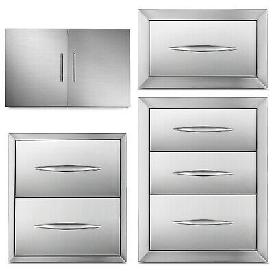 Outdoor Kitchen Bbq Island Components Stainless Steel Access Door And Drawer • 134.97$