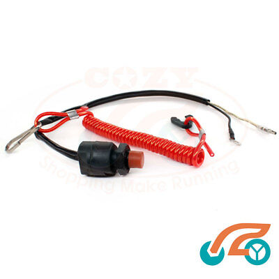 AU18.84 • Buy Boat Motor Kill Stop Switch & Safety Tether Lanyard For Yamaha/Tohatsu Outboard