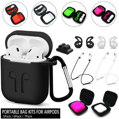 $ CDN6.14 • Buy Travel Bag Storage Case Kits For Apple AirPods Accessories Silicone AirPod Cover