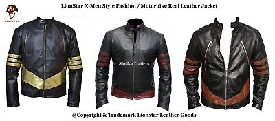 Lionstar Unisex Wolverine X Style Casual Fancy Real Leather Jacket • 104.99£