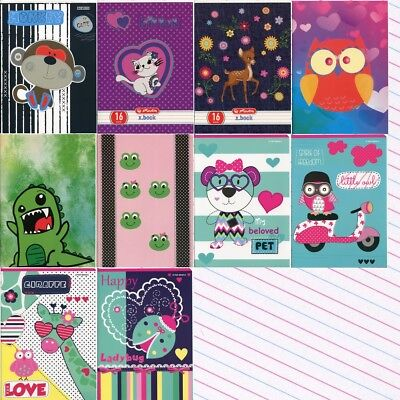 Childrens Mix Design Handwriting Exercise Books 3-lined. Zeszyt W 3 Linie • 3.33£