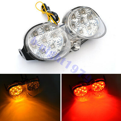 $30 • Buy Clear LED Taillight Brake Turn Signal Light For Yamaha YZF R6 2001-2002 01 02