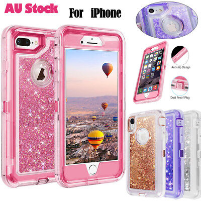 AU8.79 • Buy Fr IPhone 6 7 8 Plus XSMax Shockproof Glitter Liquid Bling Protective Case Cover