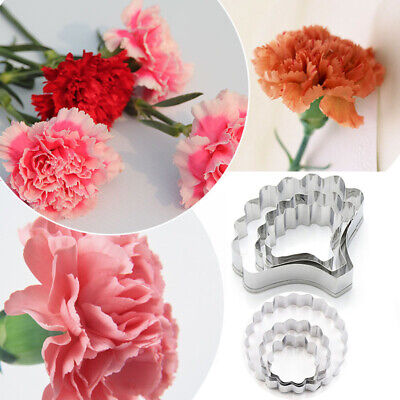 £3.62 • Buy Carnation Flower Mold Cookie Cutter Mother's Day Sugarcraft Fondant Cake Mould
