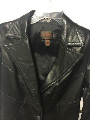 $ CDN63.42 • Buy Danier Woman's Black Leather Jacket Size Small