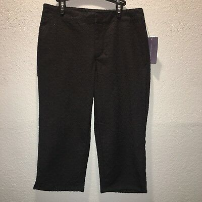 $15.99 • Buy NWT Not Your Daughters Jeans NYDJ Slimming Black Skimmer Shorts Size 2