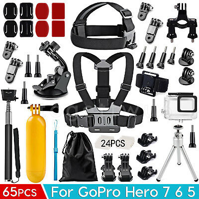 AU28.99 • Buy Accessories Pack Chest Head Waterproof Housing Case Mount For GoPro Hero 7 6 5