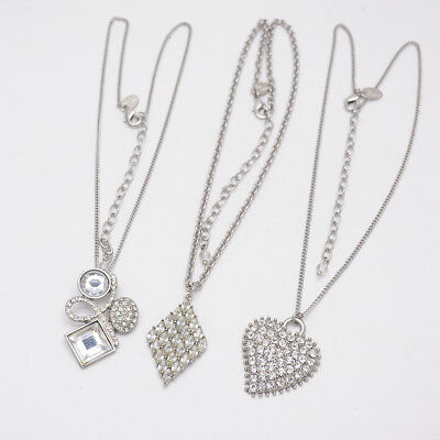 $ CDN9.13 • Buy Lia Sophia Jewelry Silver Tone Heart Diamond Shape Pendant Necklace For Women
