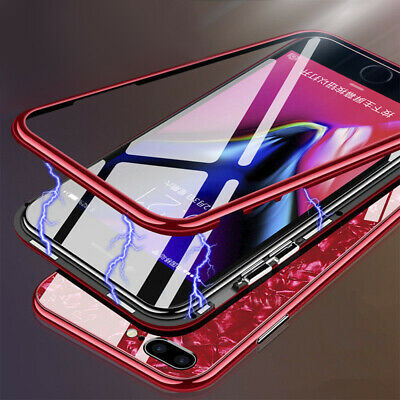 360°Full Magnetic Tempered Glass Hard Phone Case Cover For IPhone X XR XS MAX • 5.99£