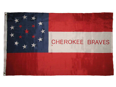 $8.44 • Buy Cherokee Braves Indian Premium Quality Super Poly 2x3 Flag Banner