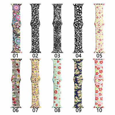 $ CDN8.85 • Buy For Apple IWatch 6 5 4 3 2 SE Sport Silicone Watch Band Bracelet Strap 40/44mm
