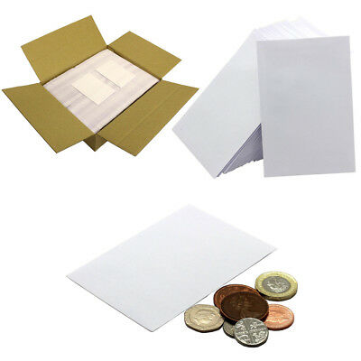 SMALL WHITE ENVELOPES 80gsm • 98 X 67mm • Dinner Money Wages Coin Beads & Seeds • 2.95£