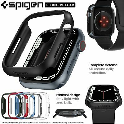 AU16.99 • Buy SPIGEN Thin Fit Hard Cover For Apple Watch IWatch Series 6 SE 5 4 44mm 40mm Case