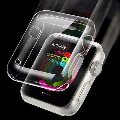 $ CDN3.65 • Buy For Apple Watch Series 4/3/2 38/42/44mm 360° Full Screen Protector Clear Cover